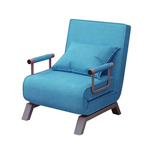 YQQ-Faules Sofa 2 In 1 Schlafsofa Falten Futon Stuhl Kissen for Single Sleep Guest Zuhause Schlafzimmer Wohnzimmer Büro Innen (Color : Blue)