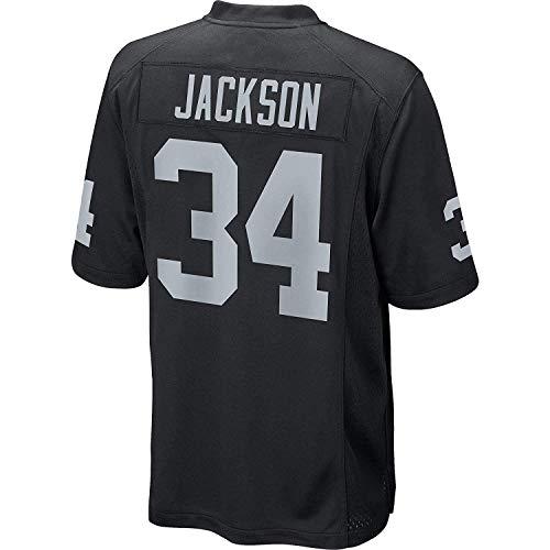 JEMWY Herren/Damen/Jugend_BO_Jackson_#34_Schwarz_Sportler_Sportbekleidung_Ausbildung_Wettbewerb_Jersey Jackson Jersey