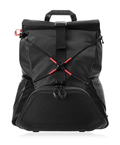 OMEN X by HP Transceptor Gaming Rucksack (geschütztes Laptopfach, wasserfest, Rolltop, Fächer für Gaming Zubehör, Backpack) Schwarz