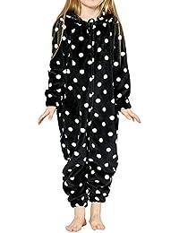 dfcd861639 Kinder Mädchen Jungen Schlafoverall Jumpsuit Overall Onesie Pyjama  Einteiler Lang Strampler Schlafanzug Nachtwäsche Playsuit Homewear Mit