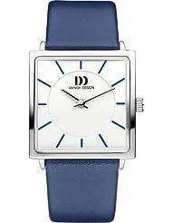 Danish Design - DZ120298 - Montre Femme - Quartz - Analogique - Bracelet Cuir Bleu