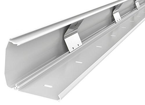 RICOO Kabelkanal Kabelschlauch Z1110-W Kabelhalter Kabelmanagement Kabeldurchführung Kabel Organizer Verstecken Alu Aluminium Klappmechanismus 110cm Weiß -