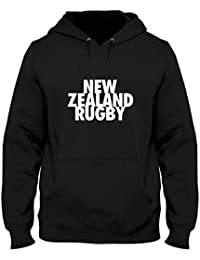 a47aebadc559c Sudadera con Capucha Hombre Negro TRUG0118 New Zealand Rugby