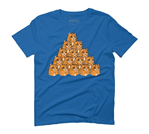 Pile of cats Men's 3X-Large Royal Blue Graphic T-Shirt - Design By Humans