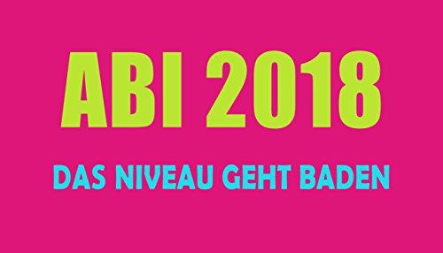 "Abistrandtuch Abihandtuch 90x180 cm ""Das Niveau geht baden - pink"" Abi 2018 420gsm"