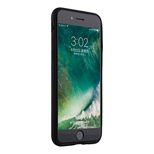 "Apple iPhone 8 (4,7"" Zoll) Hülle Liamoo® 2017 Silikon Smartphone Schutzhülle Case mit Logoausschnitt in matt schwarz schwarz"
