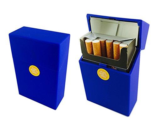 Offre Lagiwa - Etui à paquet de 20 cigarettes couleur au choix avec 1 cadeau bonus (Bleu mat)