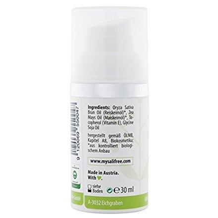 mysalifree BIO PFLEGEÖL 30ml, hochwertiges Bio-Öl für sensible und allergiegefährdete Haut, mit...