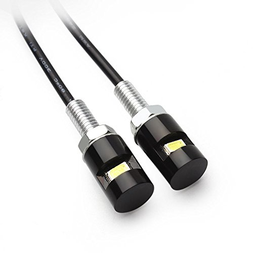 Paar Mini LED Kennzeichenbeleuchtung Nummernschildbeleuchtung Motorrad/KFZ
