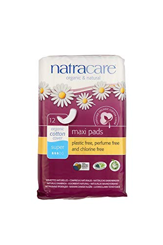 Natracare Natural Maxi Pad Súper - Compresas naturales