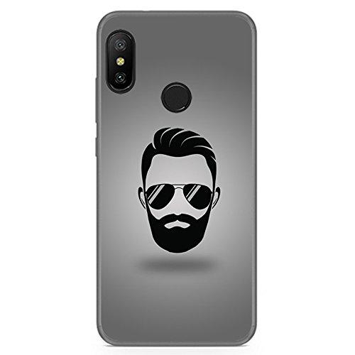 Tumundosmartphone Funda Gel TPU para XIAOMI REDMI 6 Pro/Mi A2 Lite diseño Barba Dibujos