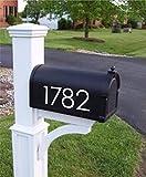 CELYCASY - Numeri per cassetta postale personalizzati, decalcomanie moderne, adesivi per cassetta postale grandi, decalcomanie per numero civico, numeri della cassetta postale – fino a 5 numeri/cifre