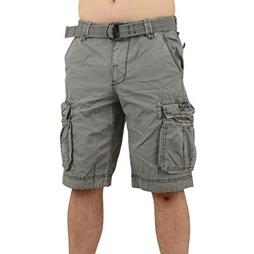 Jet Lag Herren Cargo Shorts Take off 8 (18) kurze Hose mit großen Seitentaschen moon mist W33