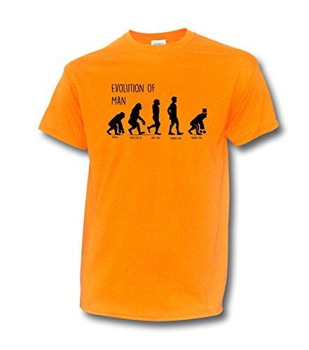 "NEON T-Shirt JGA ""JGA EVOLUTION"" Bräutigam Junggesellenabschied Hochzeit Party Neonorange"