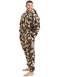 Combinaison pyjama en polaire - détail poches - motif camouflage - homme - taille S à 5 XL