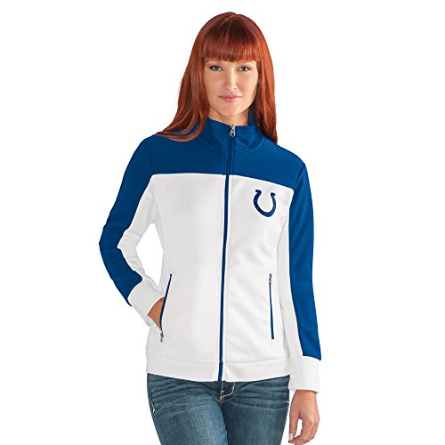 NFL Damen Play Maker Track Jacket, Damen, Play Maker Track Jacket, weiß, Small