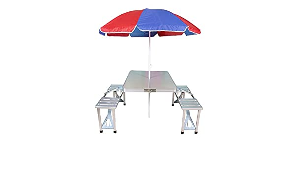 garden table and chair sets india. sobo gadgebucket new aluminium portable folding picnic table \u0026 chairs set with umbrella garden and chair sets india
