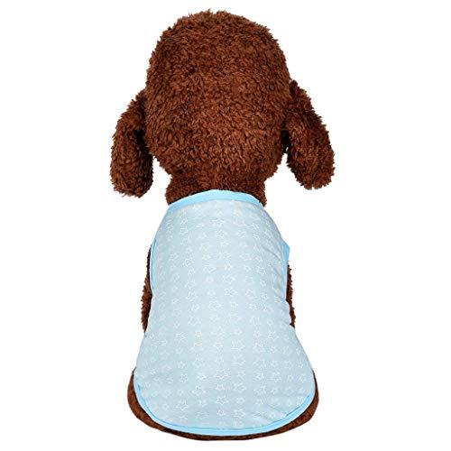 Smniao Haustier Kleidung Baumwolle Weste Star Gedruckt Hemd für Kleine Hunde Sweatshirt Katzen Kostüm Welpen Tank Tops Kleid (XS, Weiß)