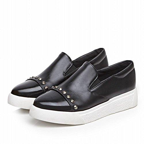 Zapatos Misssasa Para Mujer Con Tacón Bajo De Cuña Casual Y Black Street