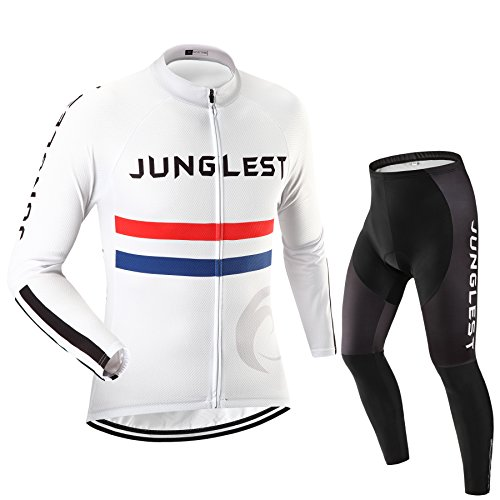 Maillot de Cyclisme Homme Manches Longues jersey(S~5XL,option:Cuissard,3D Coussin) N4