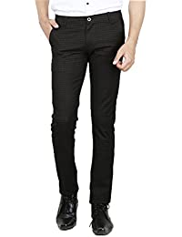 AD & AV MENS CASUAL TROUSER (325_MENS_CHEX_KHAKI_TROUSER_BB)-CREAM
