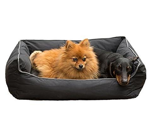 Coussin pour chien TierXpert Hermes | couchage lavable pour chien | panier pour chien avec coussin réversible | couchage pour chien et chat | housse antidérapante 58 cm x 50 cm x 20 cm