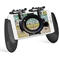 Keten Mobile Game Controller Kit, Sensitive Schieß- und Zieltasten L1R1, Mobile Gaming Grip Mobile Gamepad für PUBG/Knives Out/Rules of Survival/Fortnite Anwendung auf Android, iPhone(1Pair+1Gamepad)