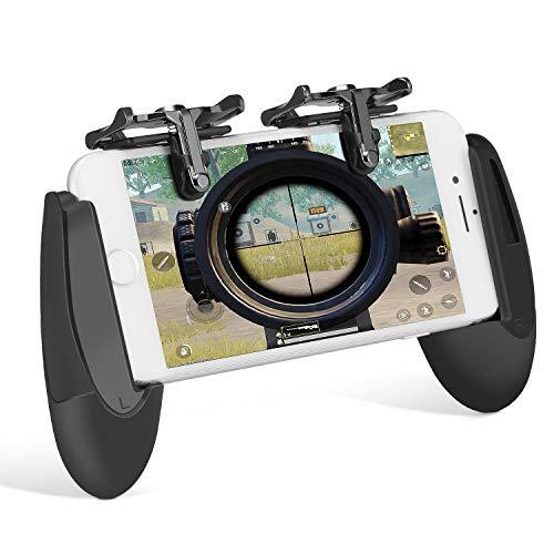 Kit de Controlador de Juego Móvil, Keten L1R1 Teclas para Disparar y Apuntar Sensibles, Grip para Gaming en Móvil, Gamepad para PUBG/Knives Out/Rules of Survival/Fortnite para Android, iPhone(1 Par+1 Gamepad)