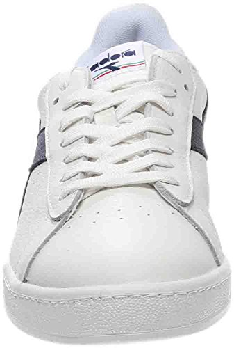 Diadora Unisex-Erwachsene Game L Low Waxed Pumps, 36 EU White/Blue Caspain Sea