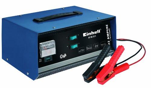 einhell batterie ladegeraet Einhell Kfz Batterieladegerät BT-BC 22 E (für Bleiakkus von 5 bis 300 Ah, 12 V Ladespannung, eingebautes Amperemeter, Ladeelektronik, Tragegriff)