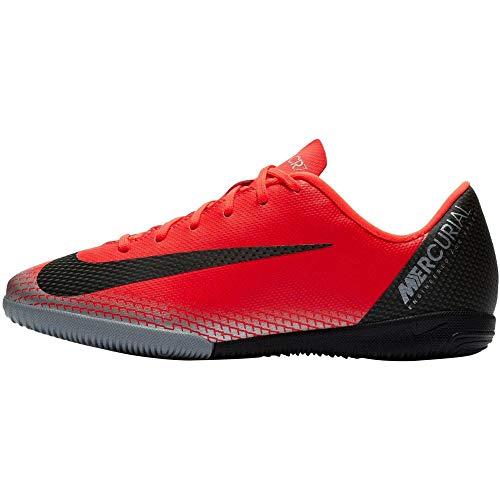 Nike Unisex-Kinder Vaporx 12 Academy Gs Cr7 IC Fußballschuhe Rot (Bright Crimson/Black-Chrome-Da 600) 37 EU