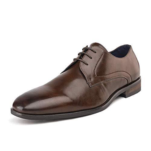 Bruno Marc Hutchingson_5 Zapatos de Cordones Oxford Vestir Clásico para Hombre Marrón 41.5 EU/8.5...