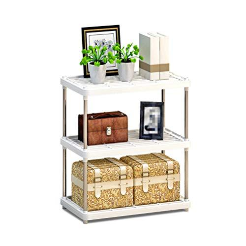 Kitchen furniture - Support de rangement au sol en plastique pour support de four à micro-ondes multi-fonctions à 3 niveaux WXP