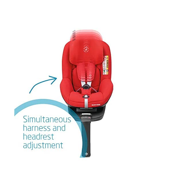 Maxi-Cosi Pearl Smart i-Size Toddler Car Seat, 6 months - 4 years, 9 - 18 kg, 67 - 105 cm, Nomad Red Maxi-Cosi Car seat for toddlers, suitable from 6 months to 4 years (9-18 kg, 67-105 cm) Must be installed in combination with family fix one i-size base i-Size (R129) car seat legislation, due to rearward-facing travel up to 105 cm (4 years) 4