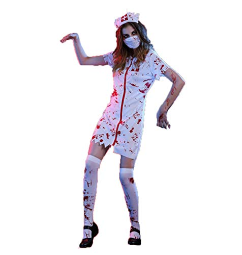 Lady Kostüm E Mail - SOOKi Womens Zombie Nurse Kostüm Adult Bloody Sexy Horror Dress Up für Frauen-XL