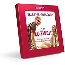 Erlebnis-Gutschein / mydays / ZEIT ZU ZWEIT / 2 Personen / 80 Erlebnisse an über 420 Standorte / Geschenkidee für Paare
