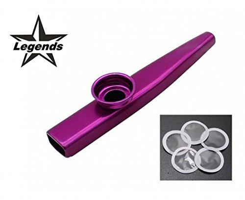 Metallo kazoo viola con 5 diaphragm di ricambio