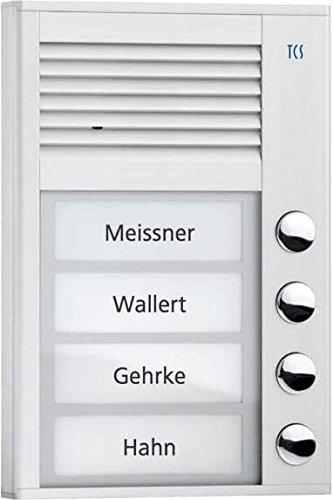 TCS PAK04-EN Audio Außenstation PAK 4 Tasten 1-reihigAP silver