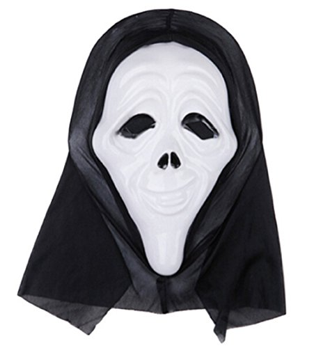 Inception Pro Infinite Maske für Kostüm - Verkleidung - Karneval - Halloween - Monster - Assassine - Weiße Farbe - Erwachsene - Unisex - Frau - Mann - Jungen - Scream