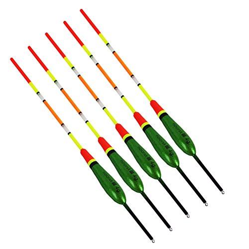 noorsk® Laufposen im 5-er Set mit langer Antenne 4 g Grün/Schwarz/Gelb/Rot OneSize