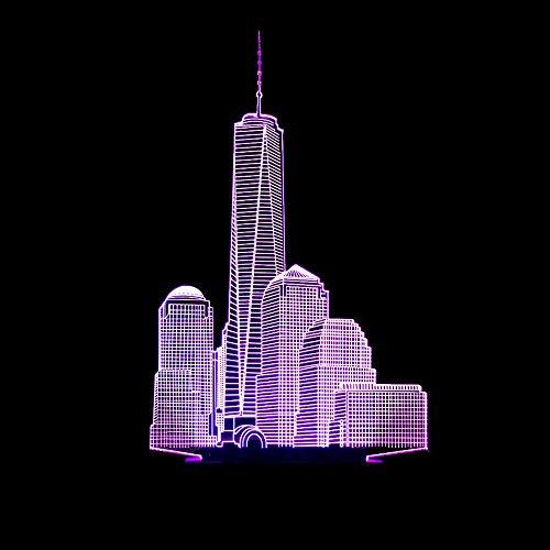 3D Nachtlicht LED Kreative WeihnachtsgeschenkStadt Gebäude Geformt Lampe 3D Nachtlicht Visuelle Party DecorFarbe Tischlampe Schlaf Beleuchtung (Weihnachten Party-stadt Stunden)