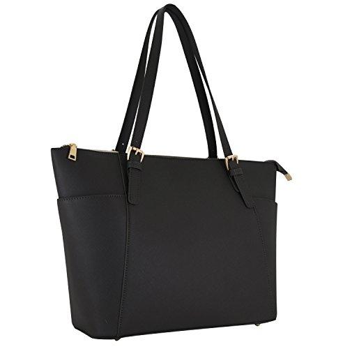Vanessa & Melissa Damen Handtasche Kunstleder TÜV geprüft groß Saffiano Shopping Bag A4 sale (Groß, Kunstleder)