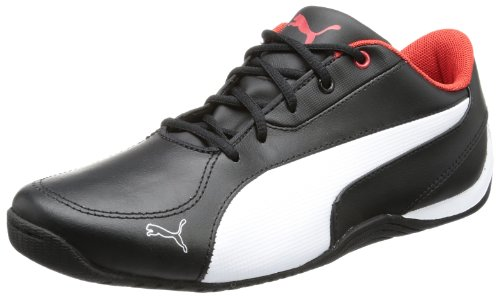 red Jr 5 Kinder Sneaker white L 01 risk black Cat Puma 304609 Drift high Schwarz Unisex qaFq6