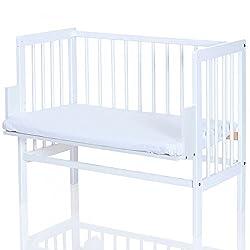 LCP Kids 417 Baby Beistellbett in weiss mit Matratze