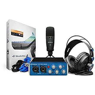PreSonus AudioBox 96 Studio USB Recording Bundle with Audio Interface, Microphone, Headphones and Studio One software