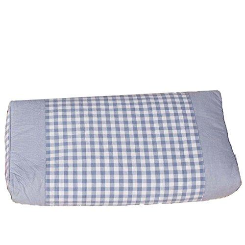 Mode Gewaschener Baumwolle Buchweizen Kissen Zervikale Gesundheit Kräuter-Massagekissen 25 * 50cm,Blue