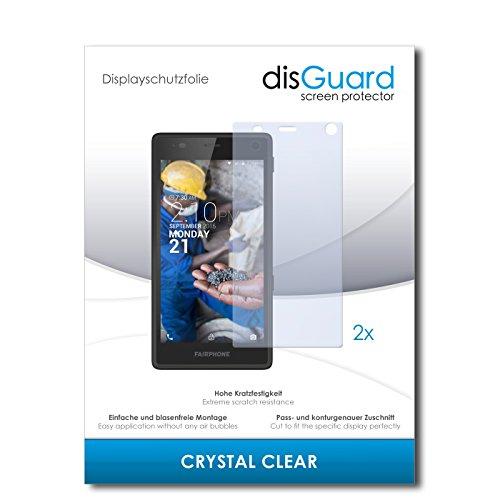 2 x disGuard® Bildschirmschutzfolie Fairphone Fairphone 2 Schutzfolie Folie