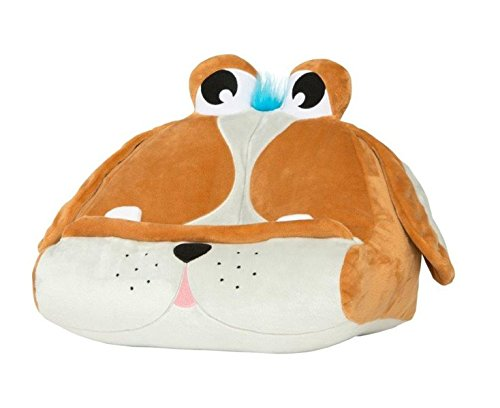 Thinking Gifts Cuddly Reader Puppy Pete - Atril de tela infantil