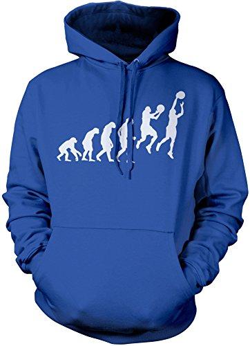 HotScamp Prämie Evolution of Basketball Herren Kapuzenpullover Viele Farben und Größen Kapuzenpullover S M L XL XXL (Groß, Royal blau) (Gerippte Blu Jersey)