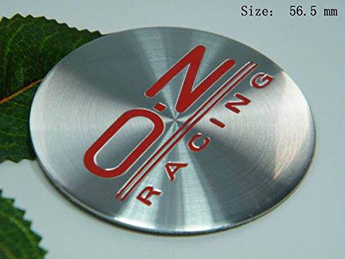 R105 OZ 2 stück rot Felgendeckel 3D Emblem Abziehbild Auto Aufkleber Nabendeckel Radkappen Nabenkappen 56,5 mm (Ford Nabendeckel Embleme)